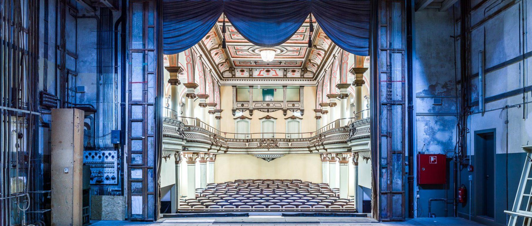 Blick in den restaurierten Zuschauerraum: Das Königliche Kurtheater Bad Wildbad (Foto: D. Vieser)